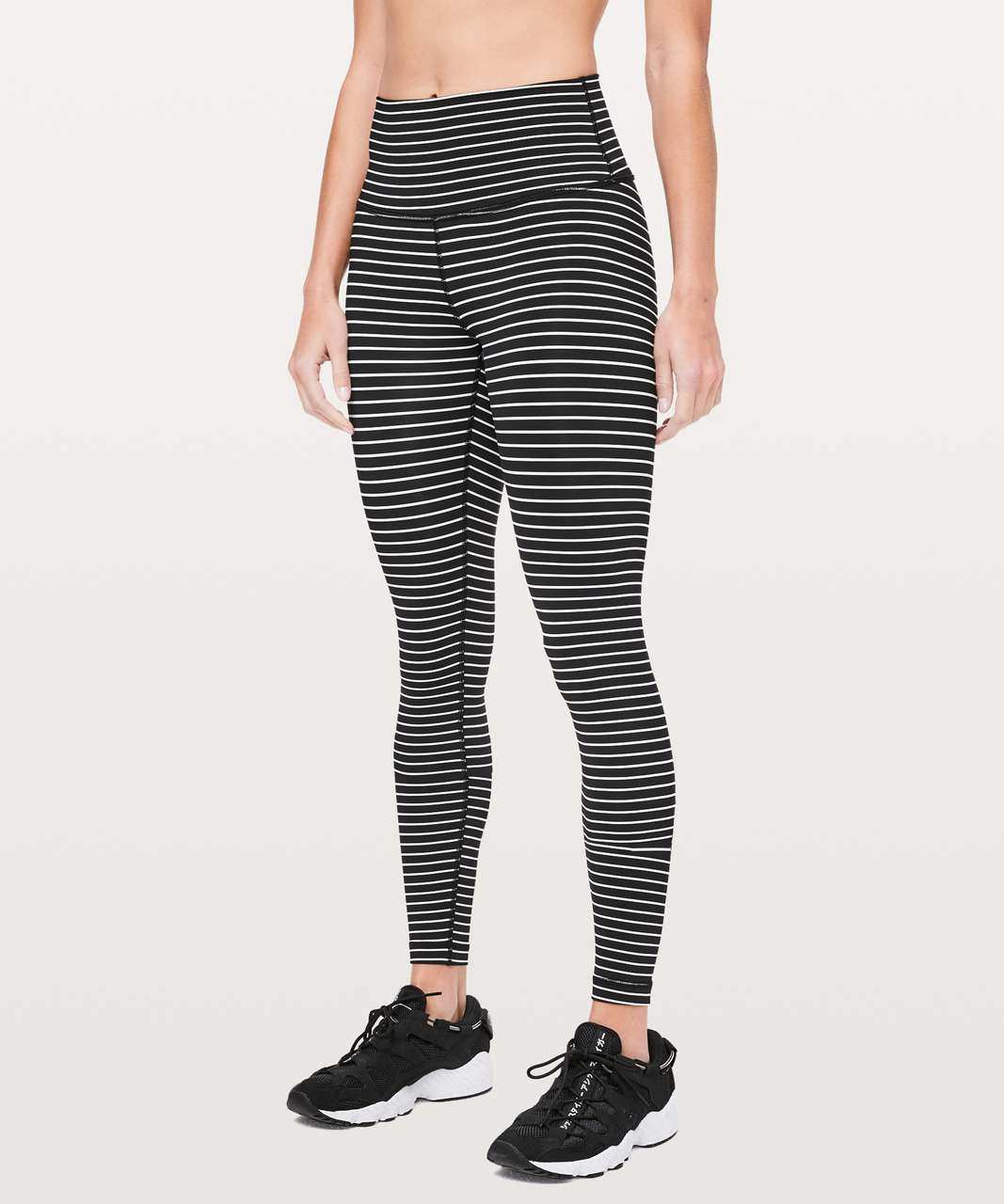 "Lululemon Wunder Under High-Rise Tight *Luxtreme 28"" - Parallel Stripe Black White"