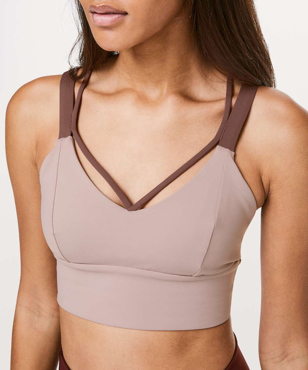 Lululemon Pushing Limits Bra *Light Support For C/D Cup - Smoky Blush / Antique Bark