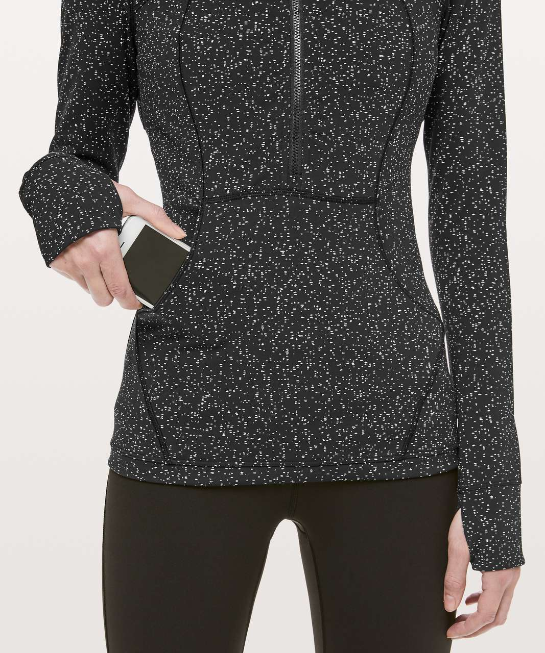 Lululemon Define Pullover - Magnetized Jacquard Black White