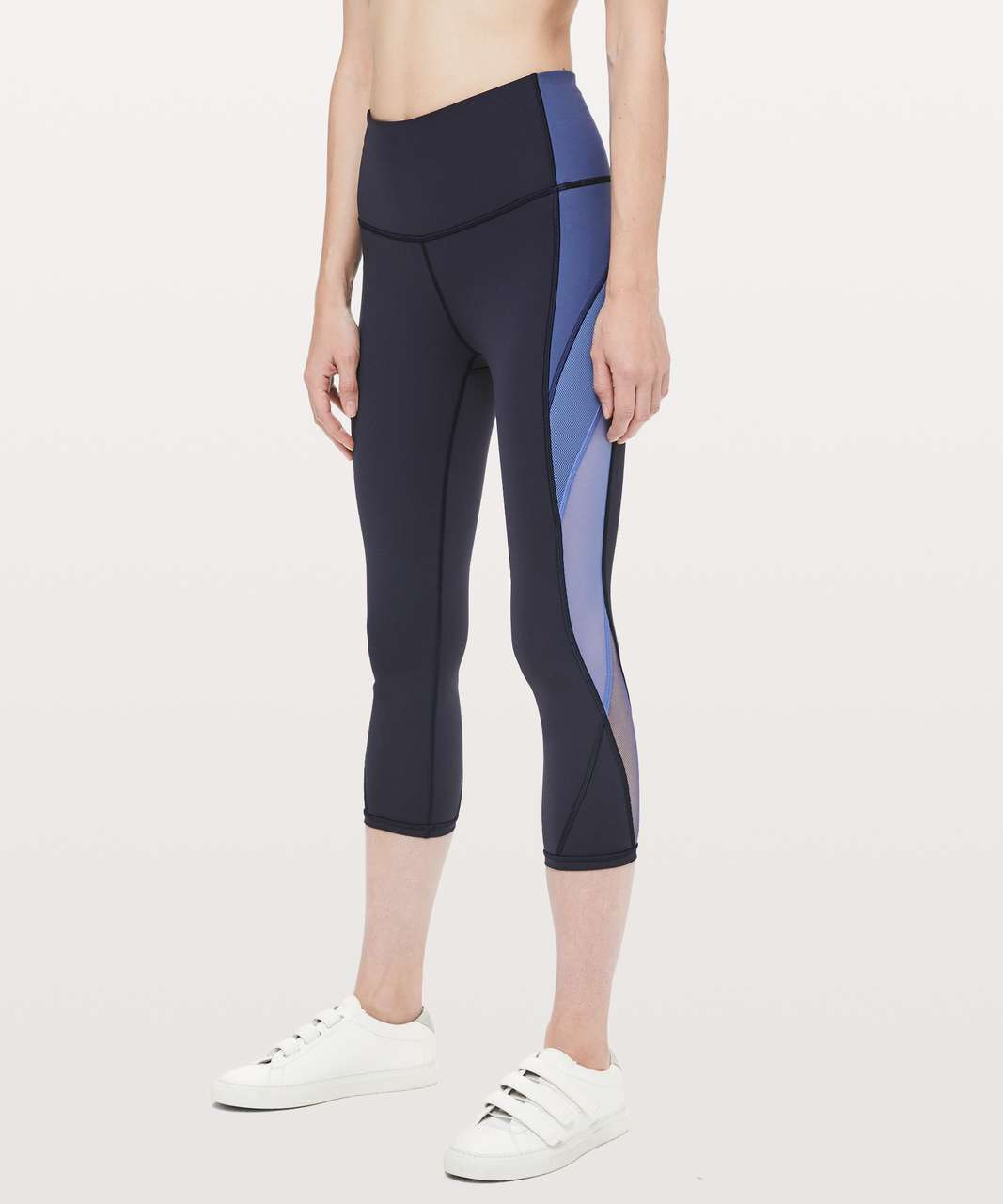 "Lululemon Colour Me Ombre Crop *21"" - Midnight Navy / Gatsby Blue / Visto Blue"