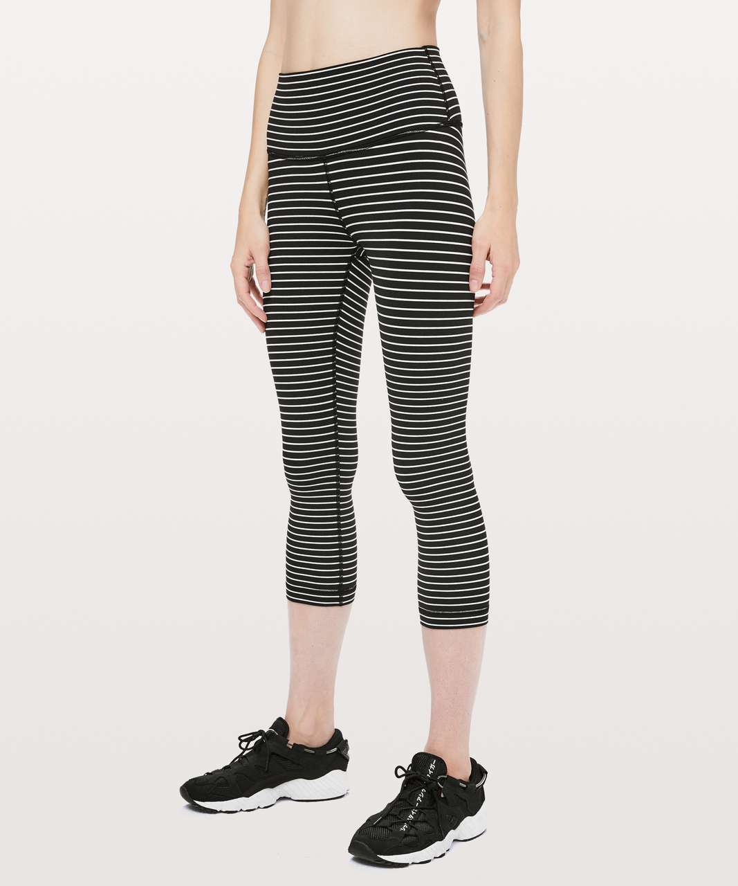 "Lululemon Wunder Under Crop (High-Rise) *21"" - Parallel Stripe Black White"