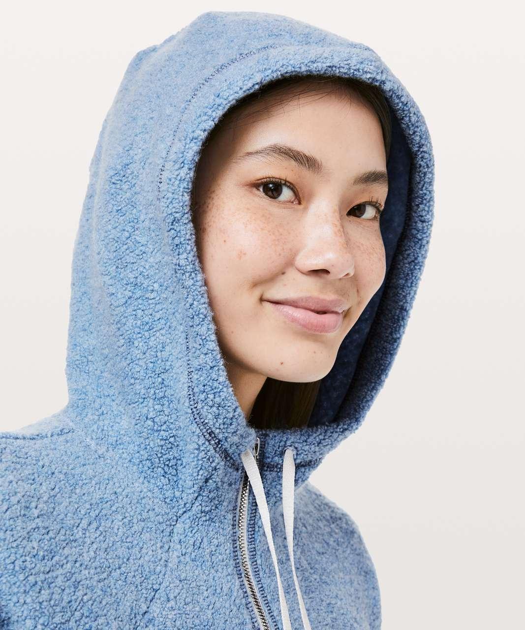 Lululemon So Sherpa Hooded Jacket - Heathered Lunar Eclipse