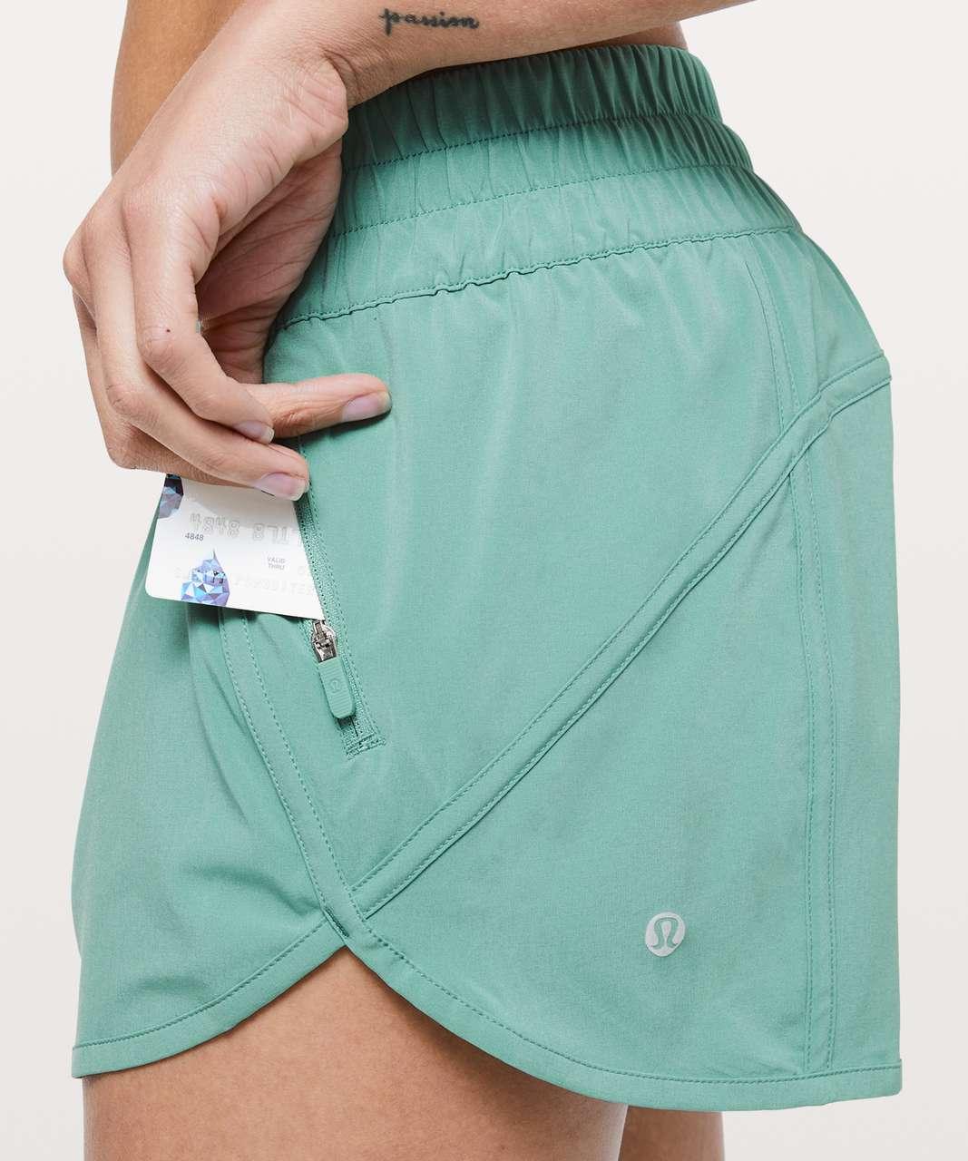 "Lululemon Tracker Short V *4"" - Aqua Mint"