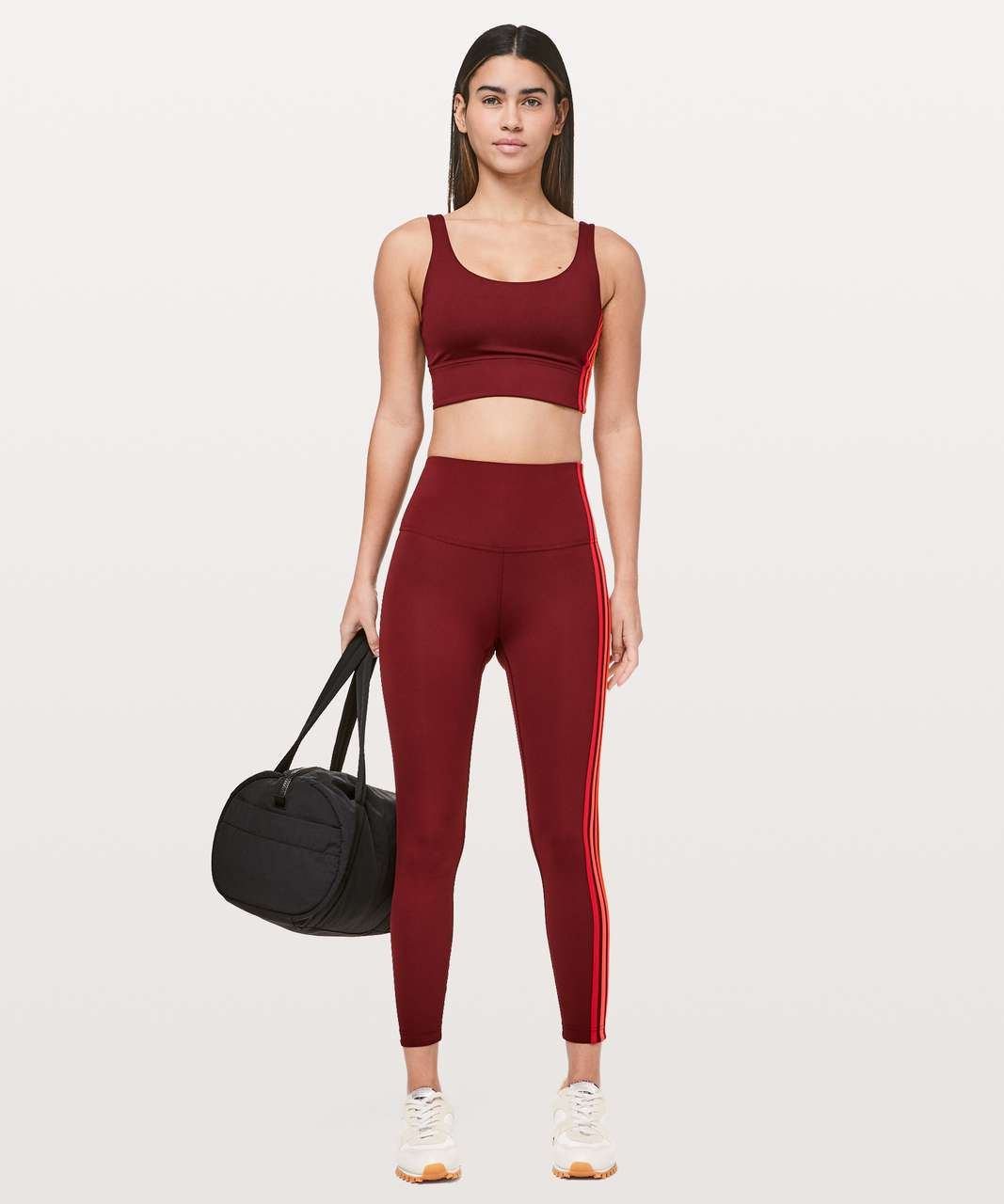 "Lululemon Take A Hint 7/8 Tight *25"" - Deep Rouge"