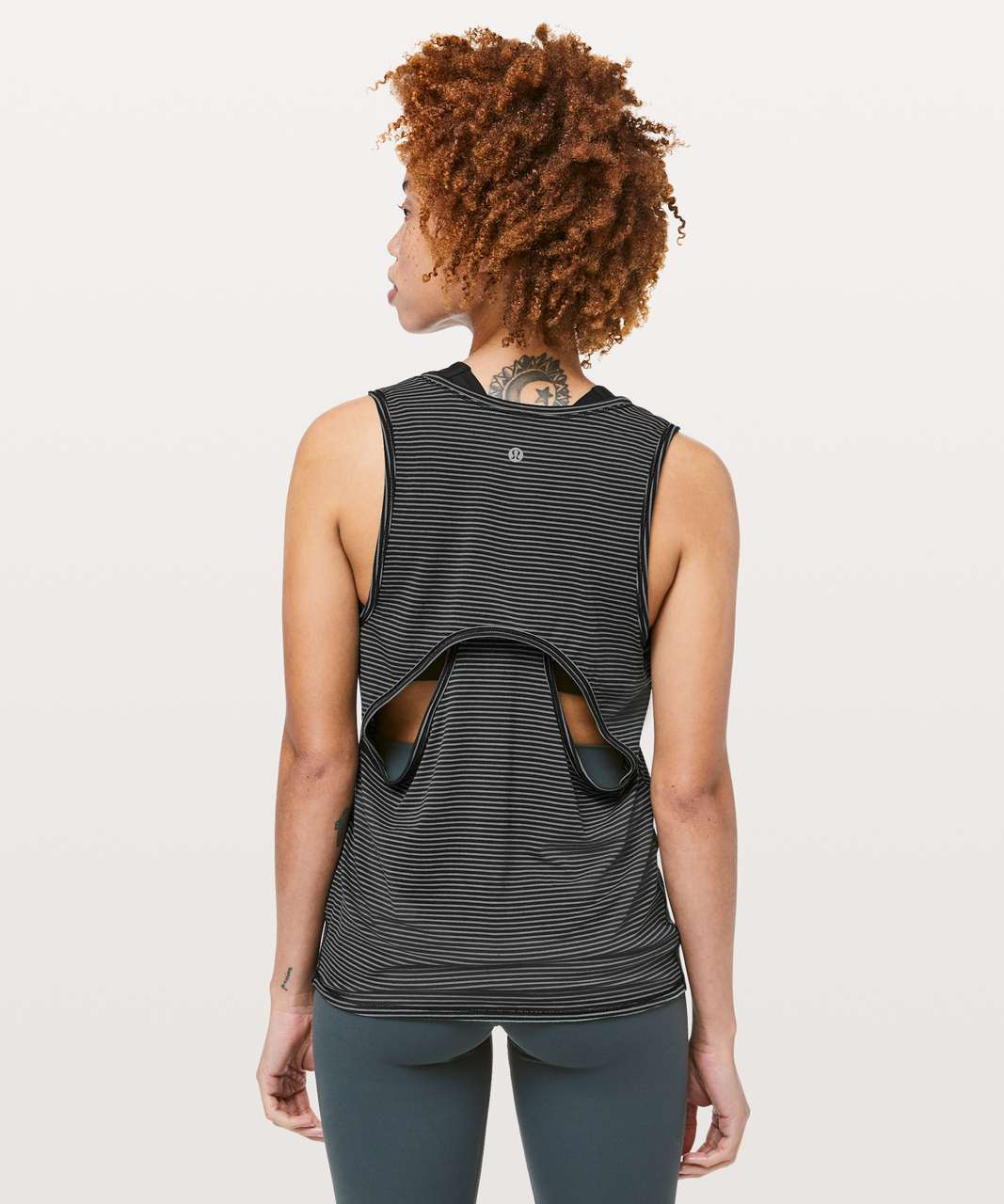 Lululemon Circuit Crusher Tank - Evolution Stripe Black Heathered Dark Cast
