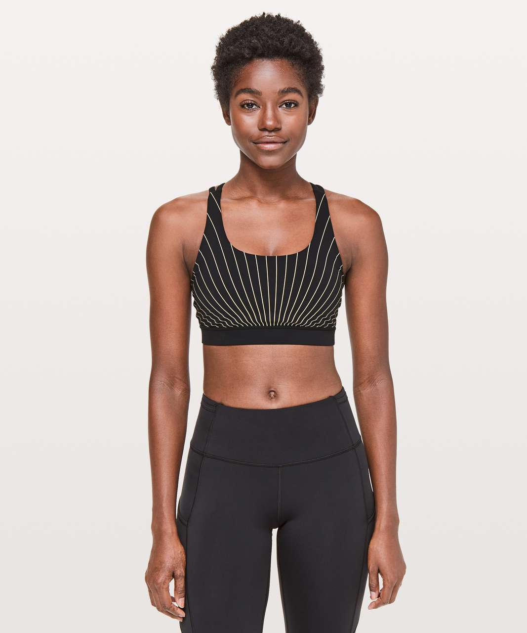 Lululemon Energy Bra *Reflective - High Beam Energy Bra Soft Sand Reflective