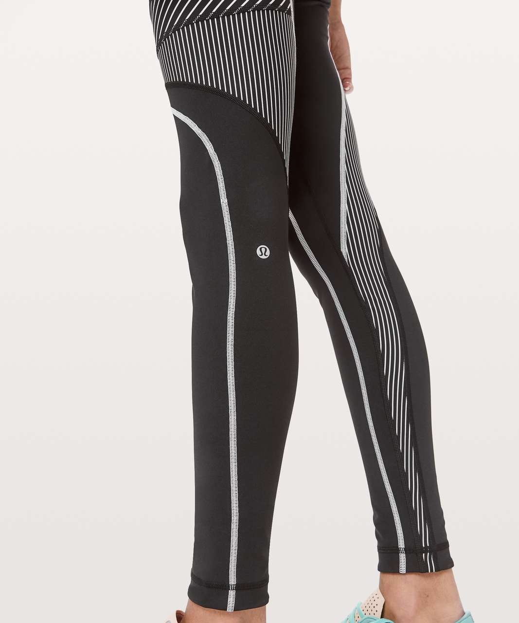 "Lululemon Channel Your Energy Tight *28"" - Black / White"