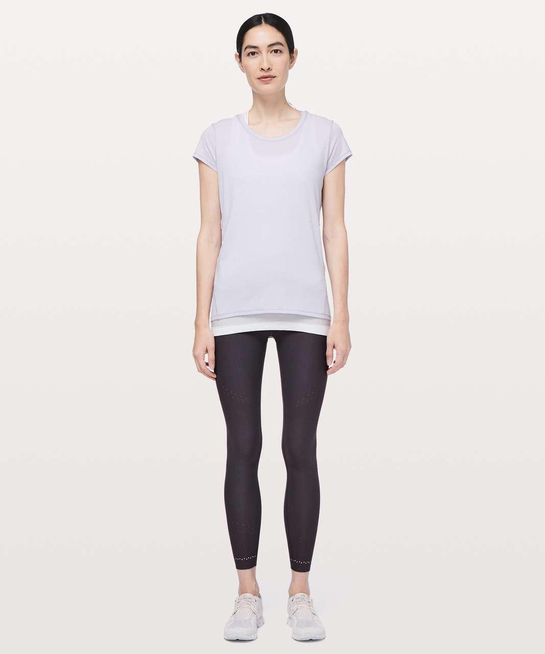 Lululemon Another Mile Short Sleeve - Heathered Sheer Lilac