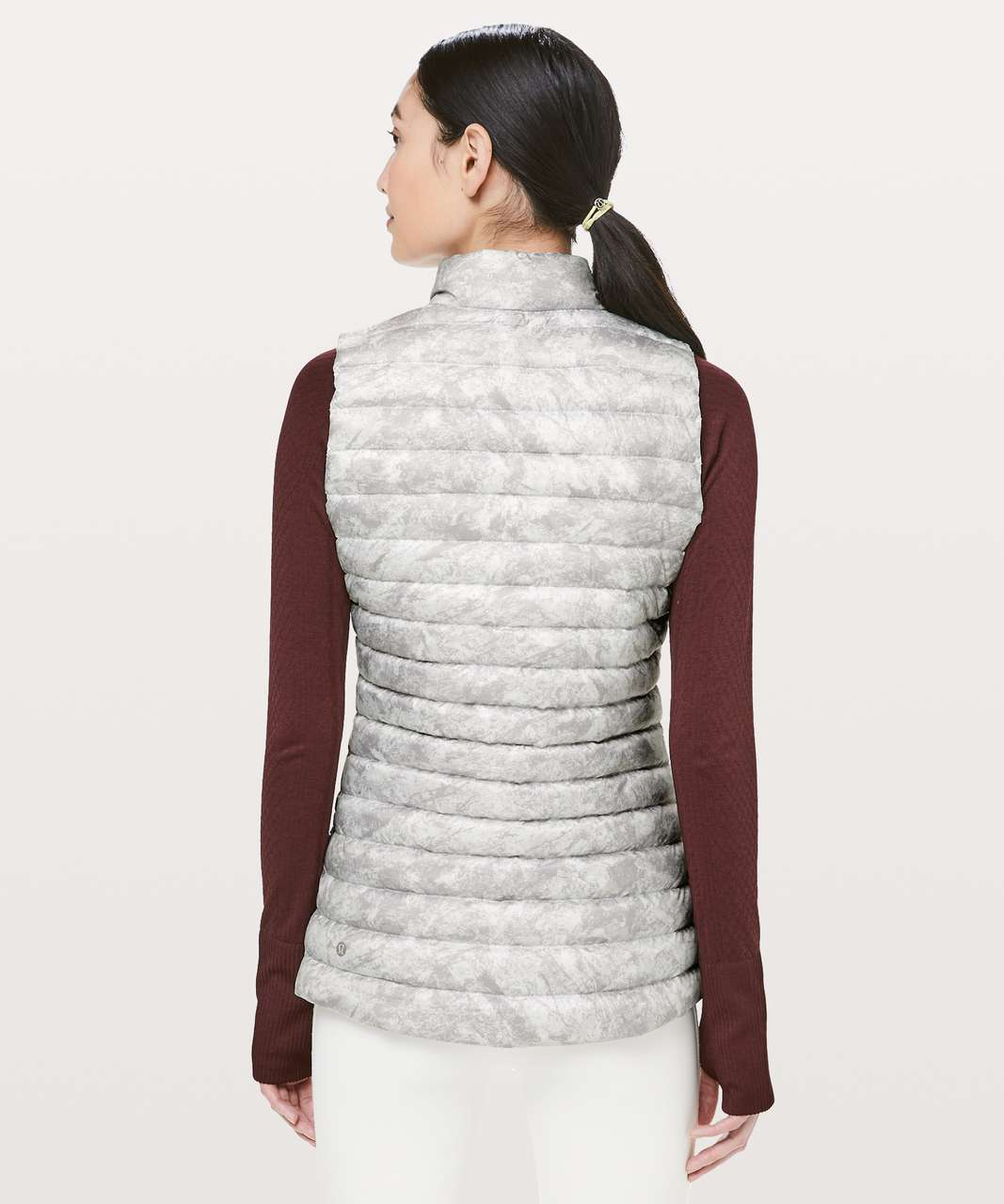 Lululemon Pack It Down Again Vest - Washed Marble Alpine White Dark Chrome