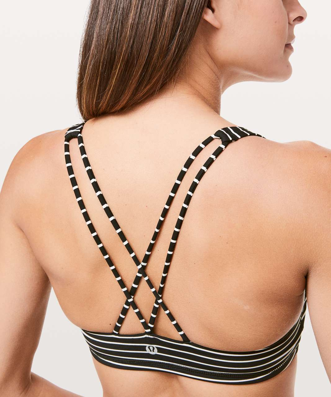Lululemon Free To Be Bra - Parallel Stripe Black White
