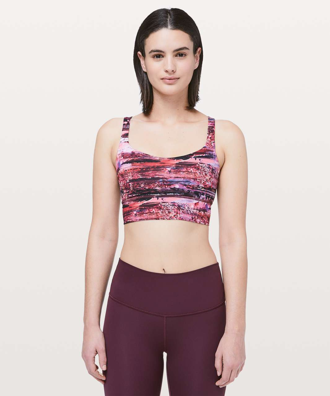 Lululemon Free To Be Bra *Long Line - Dahliascape Multi