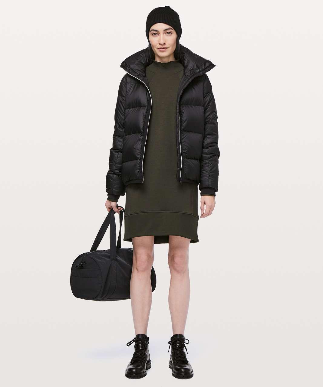 Lululemon Cozy Instincts Dress - Dark Olive