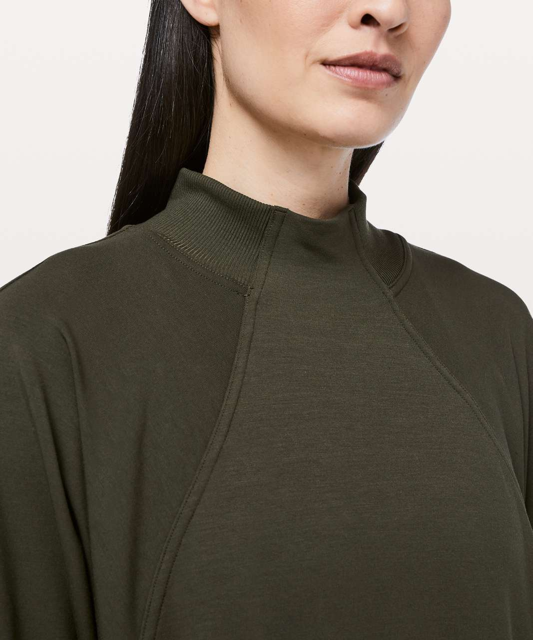 Lululemon Cozy Instincts Dress - Dark Olive