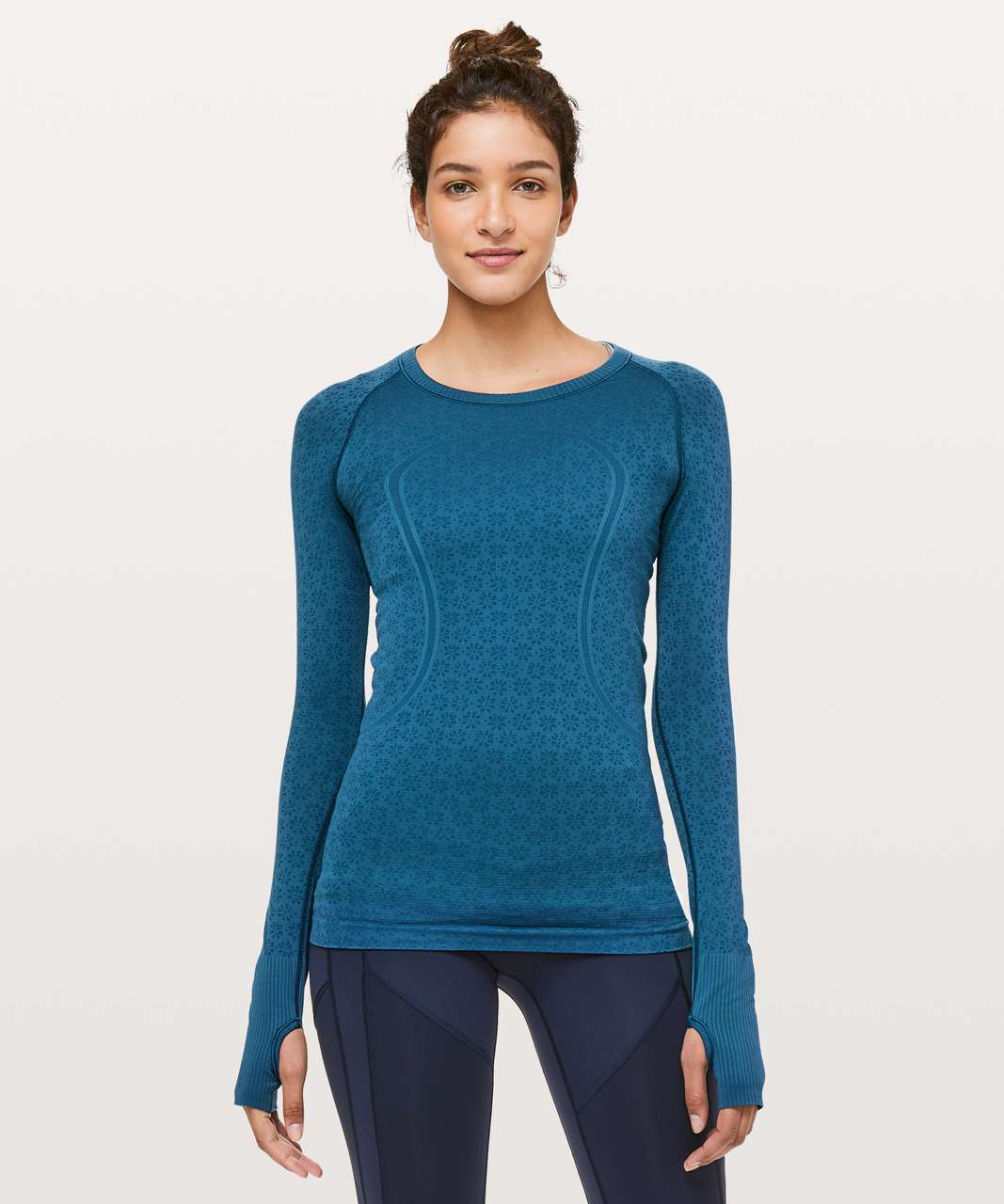 Lululemon Swiftly Tech Long Sleeve Crew - Carbon Blue / Carbon Blue