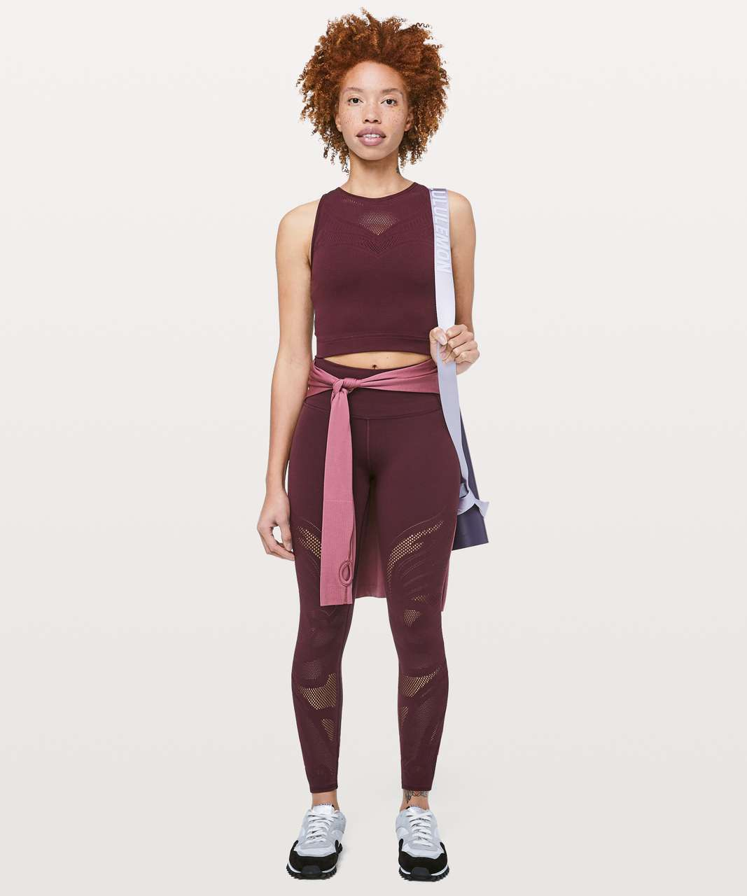 Lululemon Reveal Crop Top *En Avante - Dark Adobe