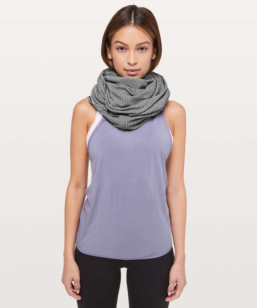 Lululemon Vinyasa Scarf *Rulu - Heathered Herringbone Black Heathered White