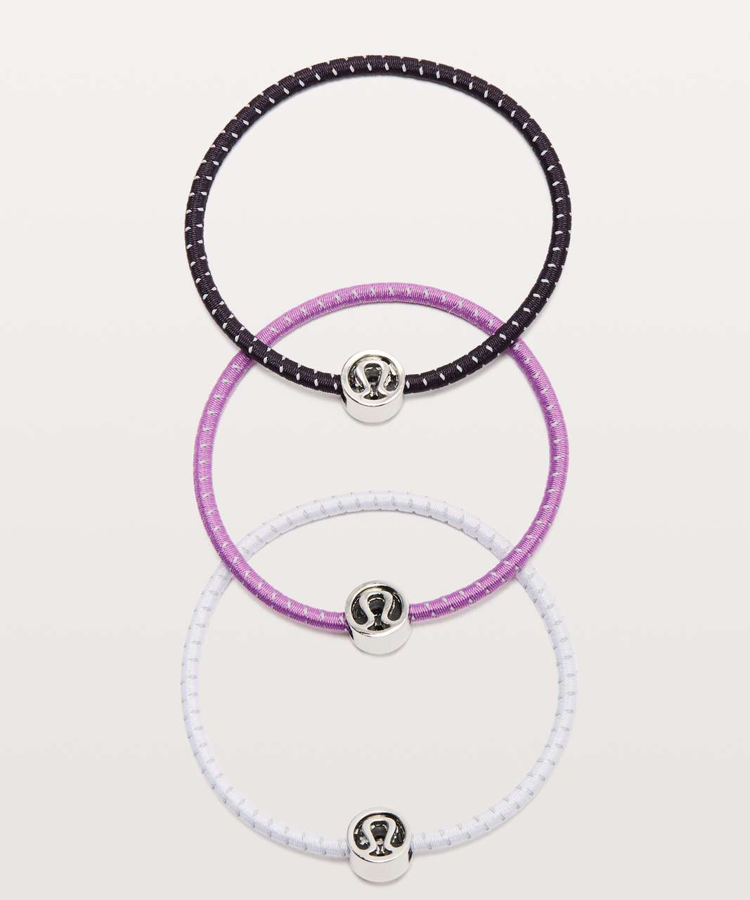 Lululemon Glow On Hair Ties - Cyber / Sheer Lilac / Purple Blossom