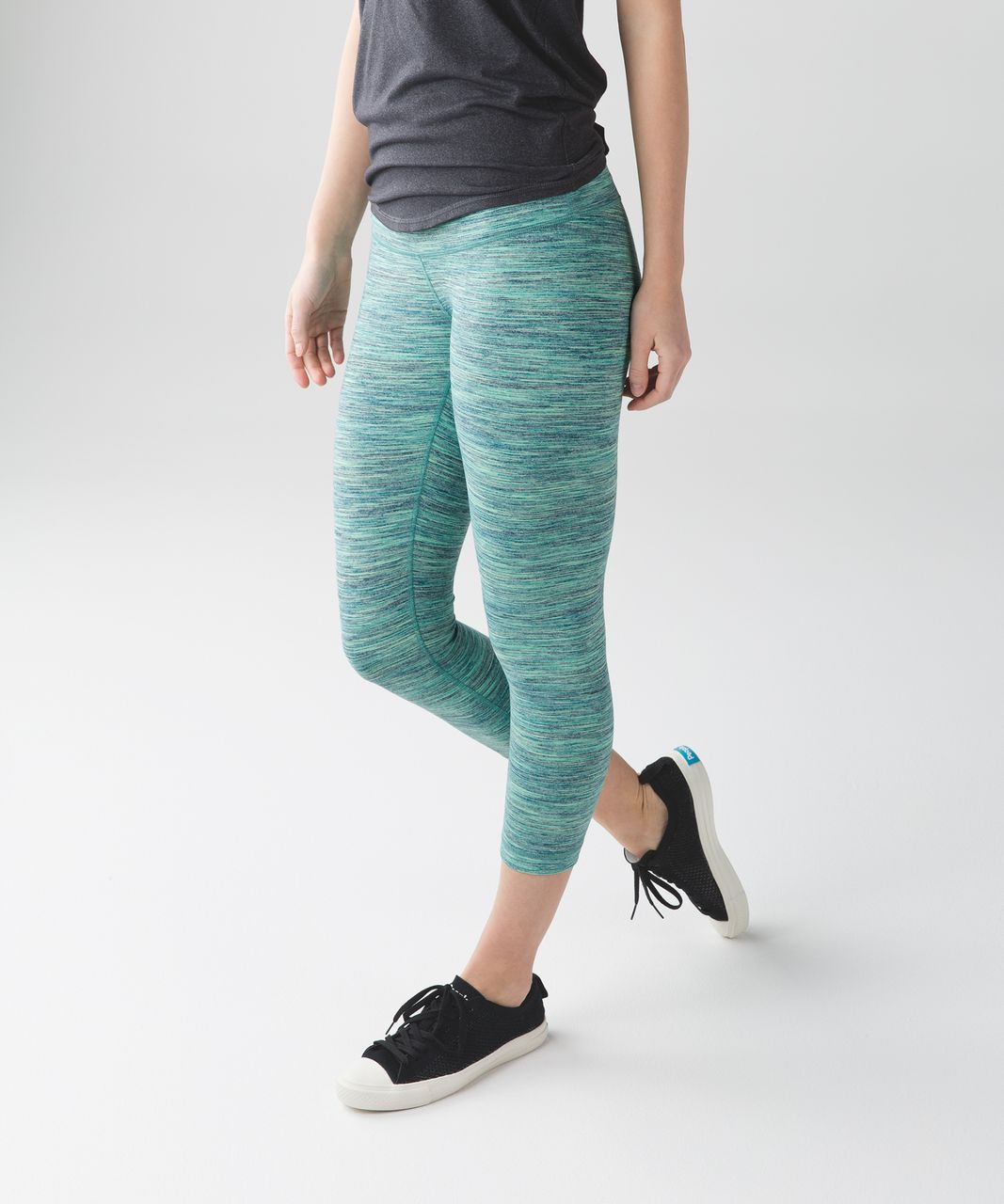 Lululemon Wunder Under Crop (Hi-Rise) - Space Dye Camo Alberta Lake Fresh Teal