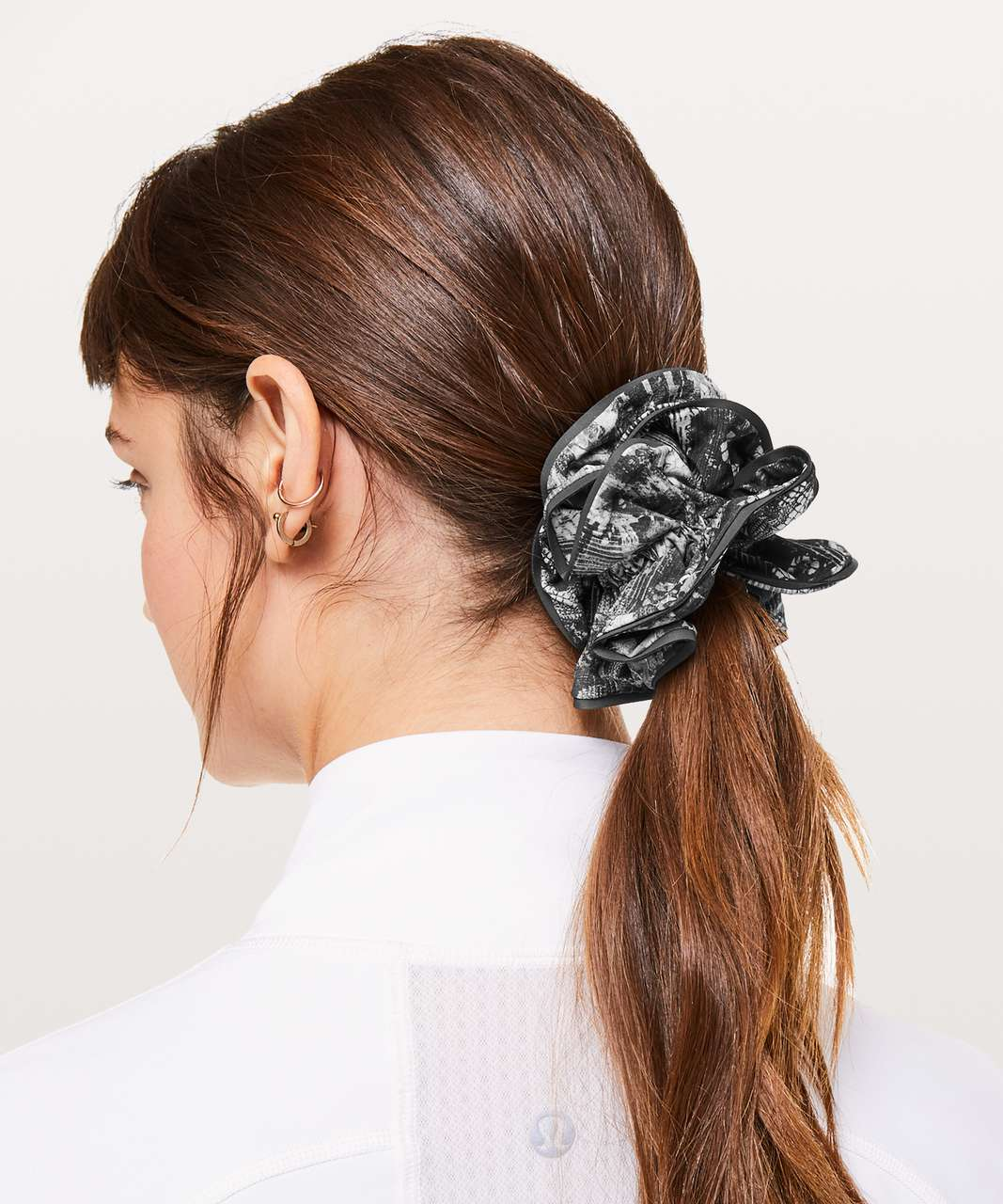 Lululemon Light Locks Scrunchie - Masked Lace Starlight Black