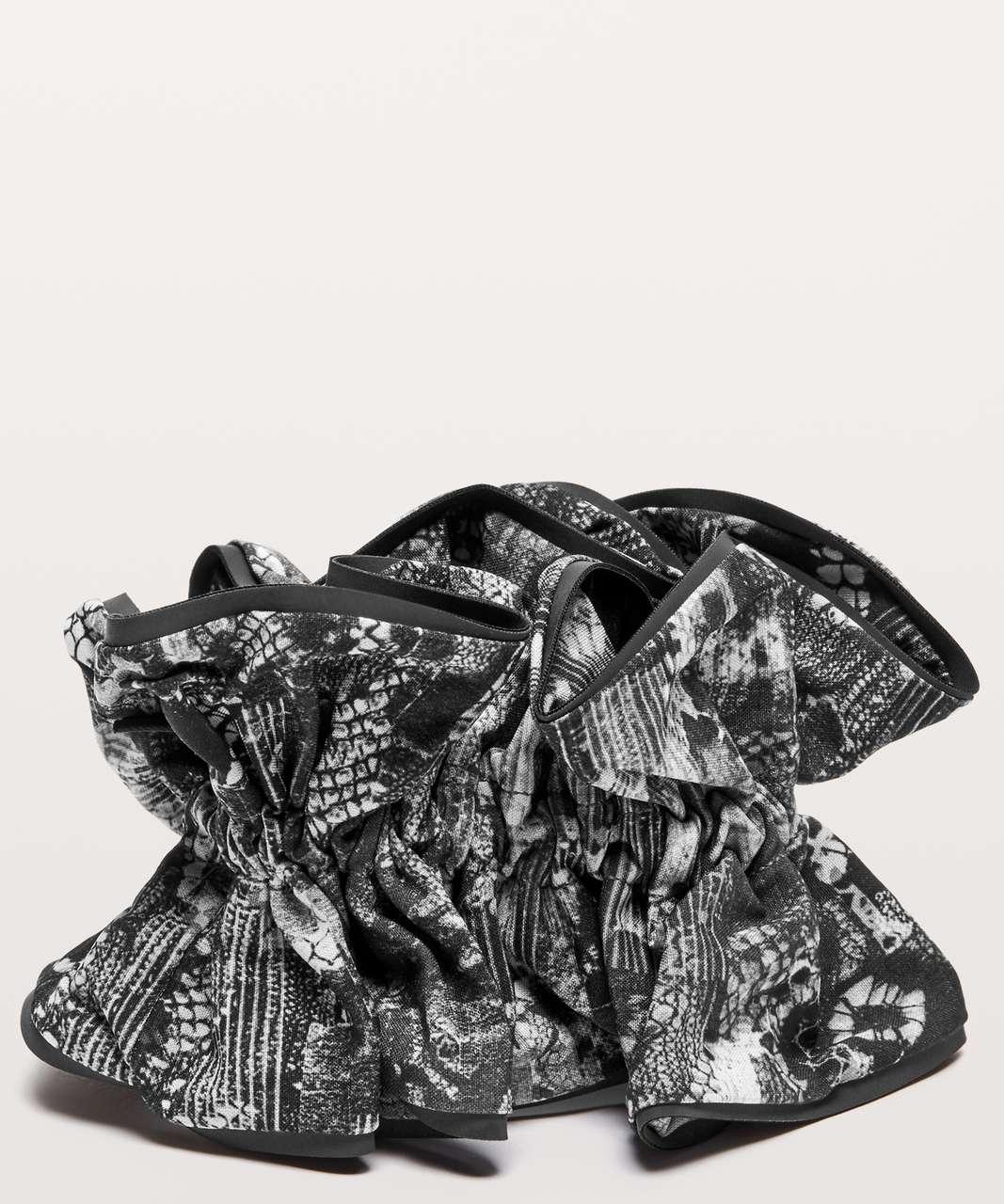 Lululemon Light Locks Scrunchie - Masked Lace Starlight Black