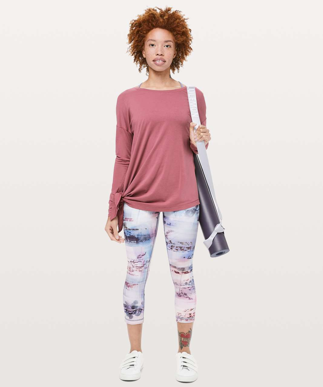 "Lululemon Wunder Under Crop (High-Rise) *Full-On Luxtreme 21"" - Sunrise Silhouette Multi"