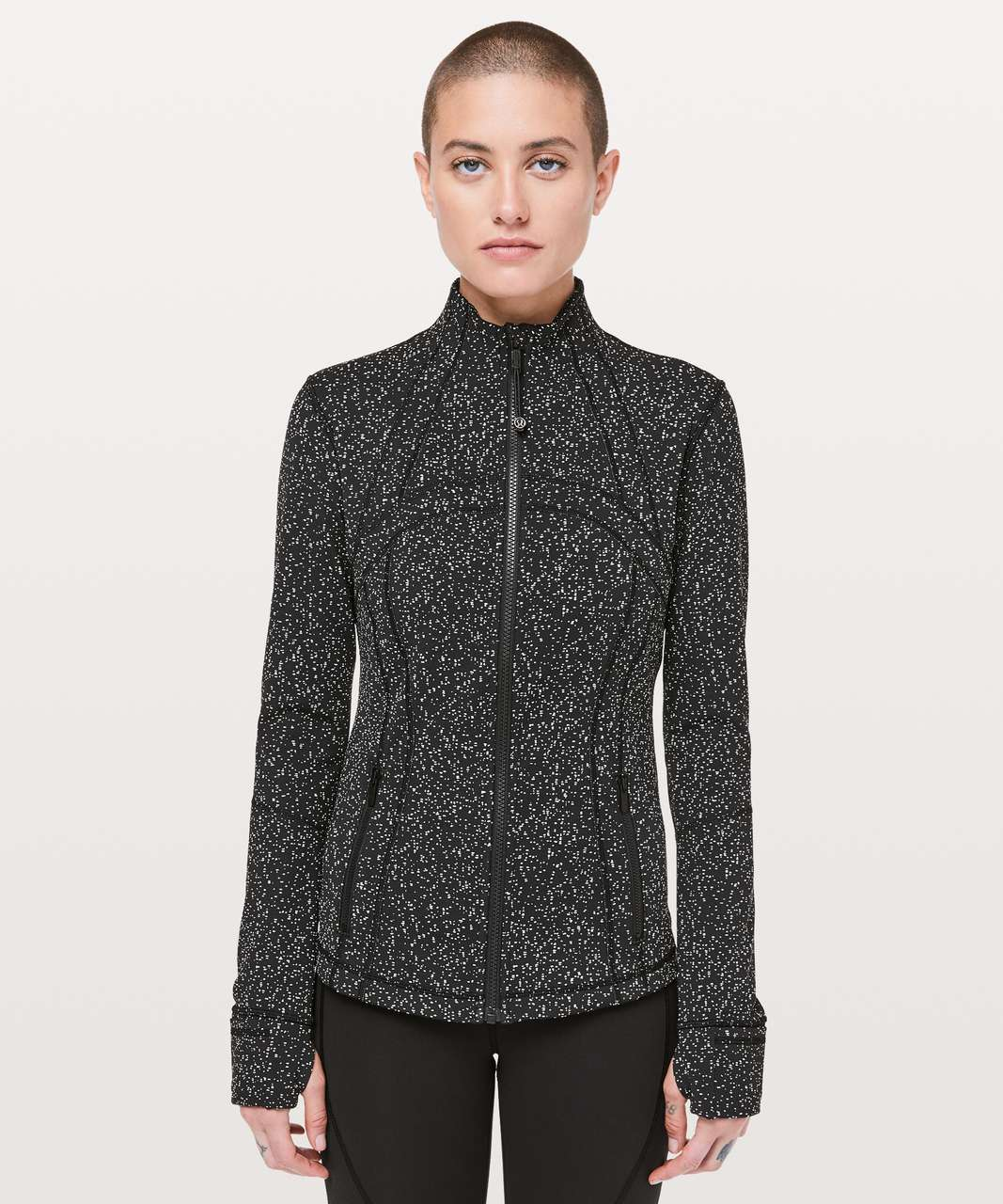Lululemon Define Jacket - Magnetized Jacquard Black White