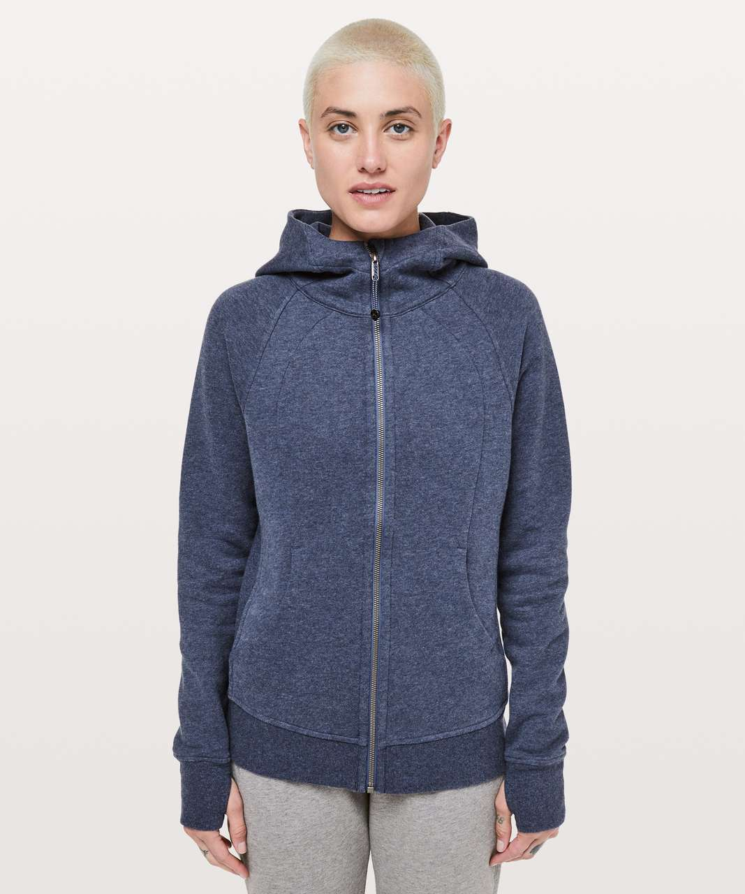 Lululemon Scuba Hoodie *Light Cotton Fleece - Heathered Gatsby Blue