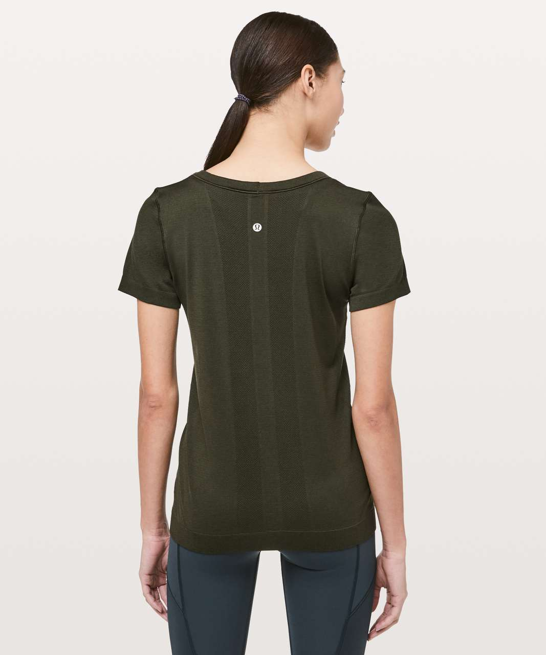 Lululemon Swiftly Tech Short Sleeve (Breeze) *Relaxed Fit - Dark Olive / Dark Olive