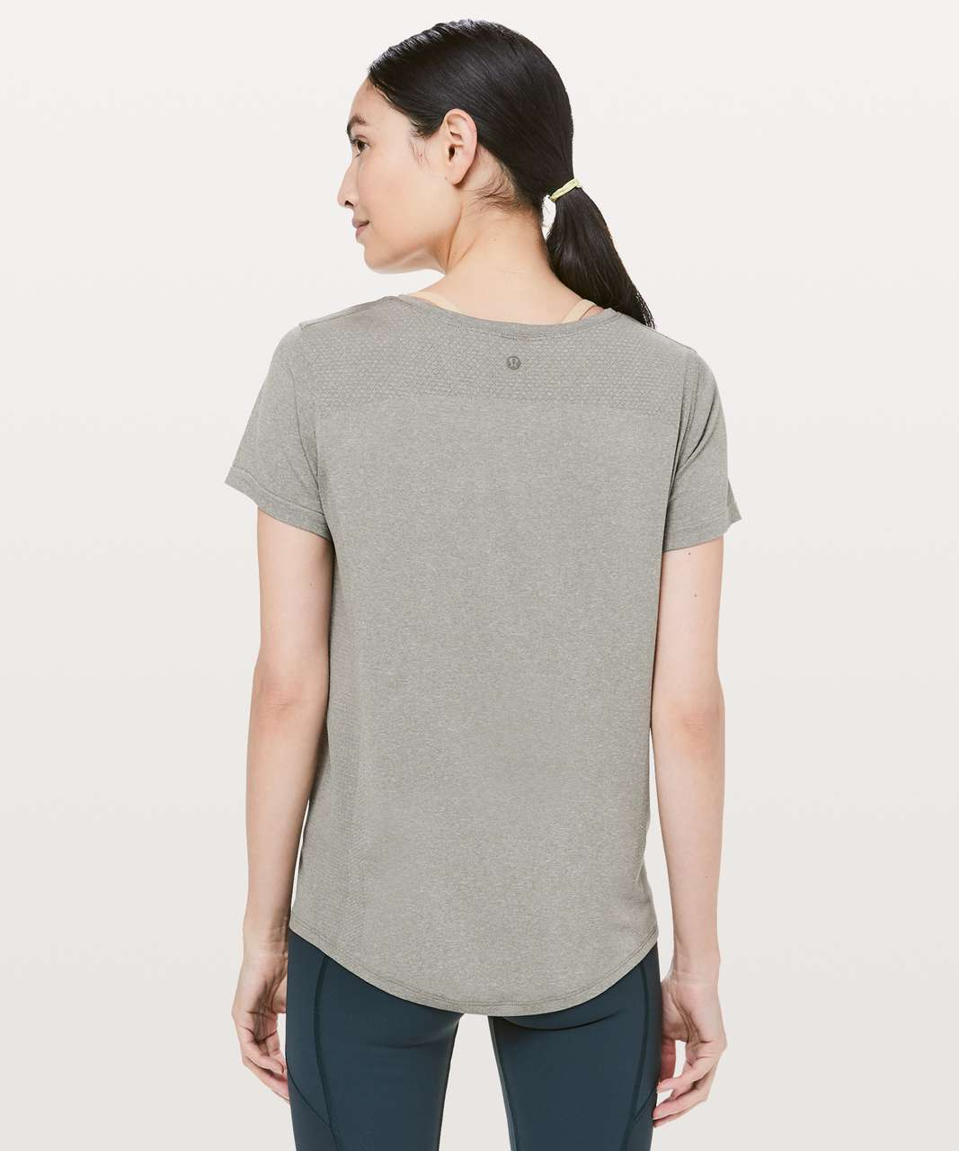 Lululemon Wait For Nothing Short Sleeve - Grey Sage / White