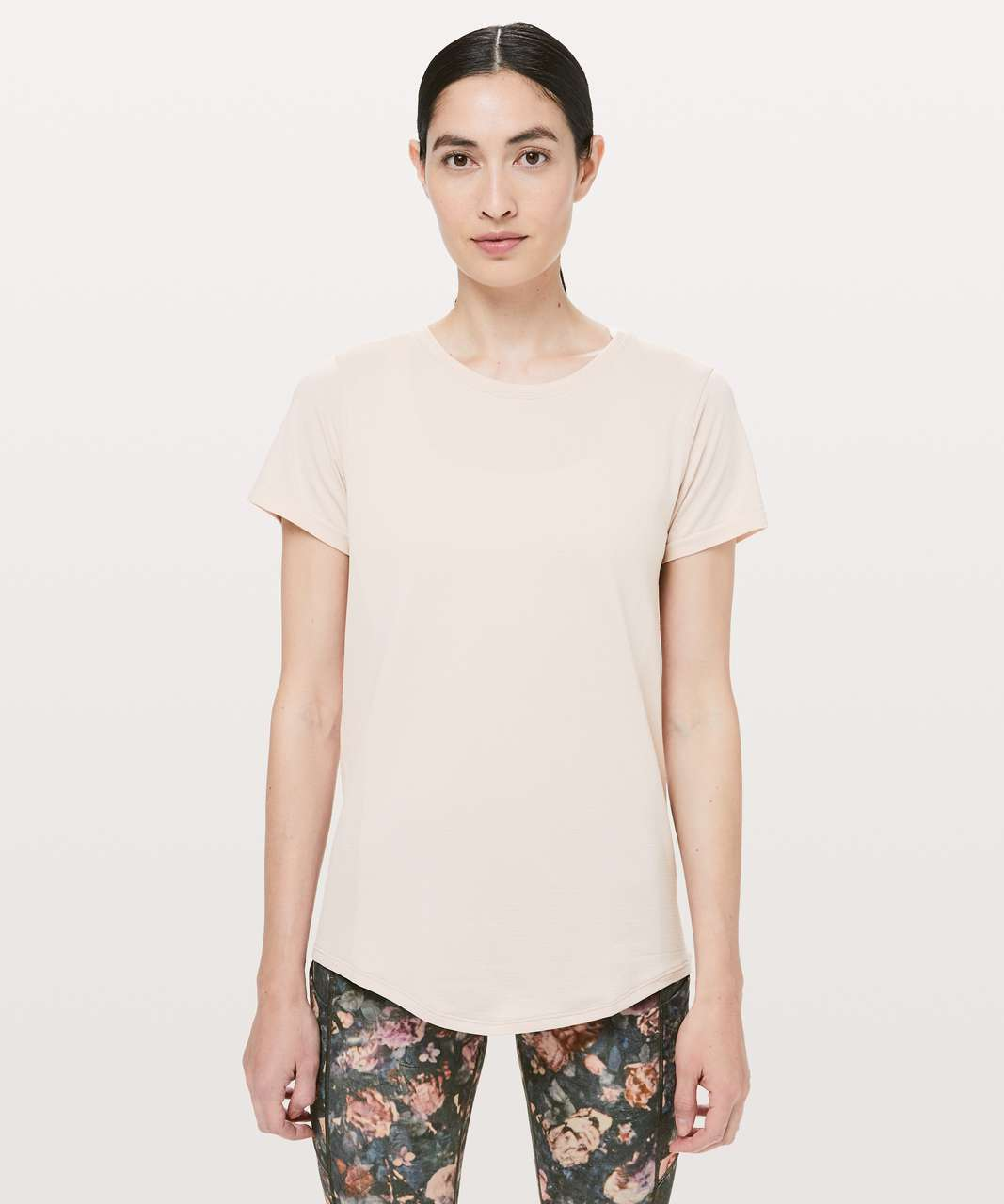 b74dece0e233b Lululemon Wait For Nothing Short Sleeve - Pink Bliss   White - lulu fanatics