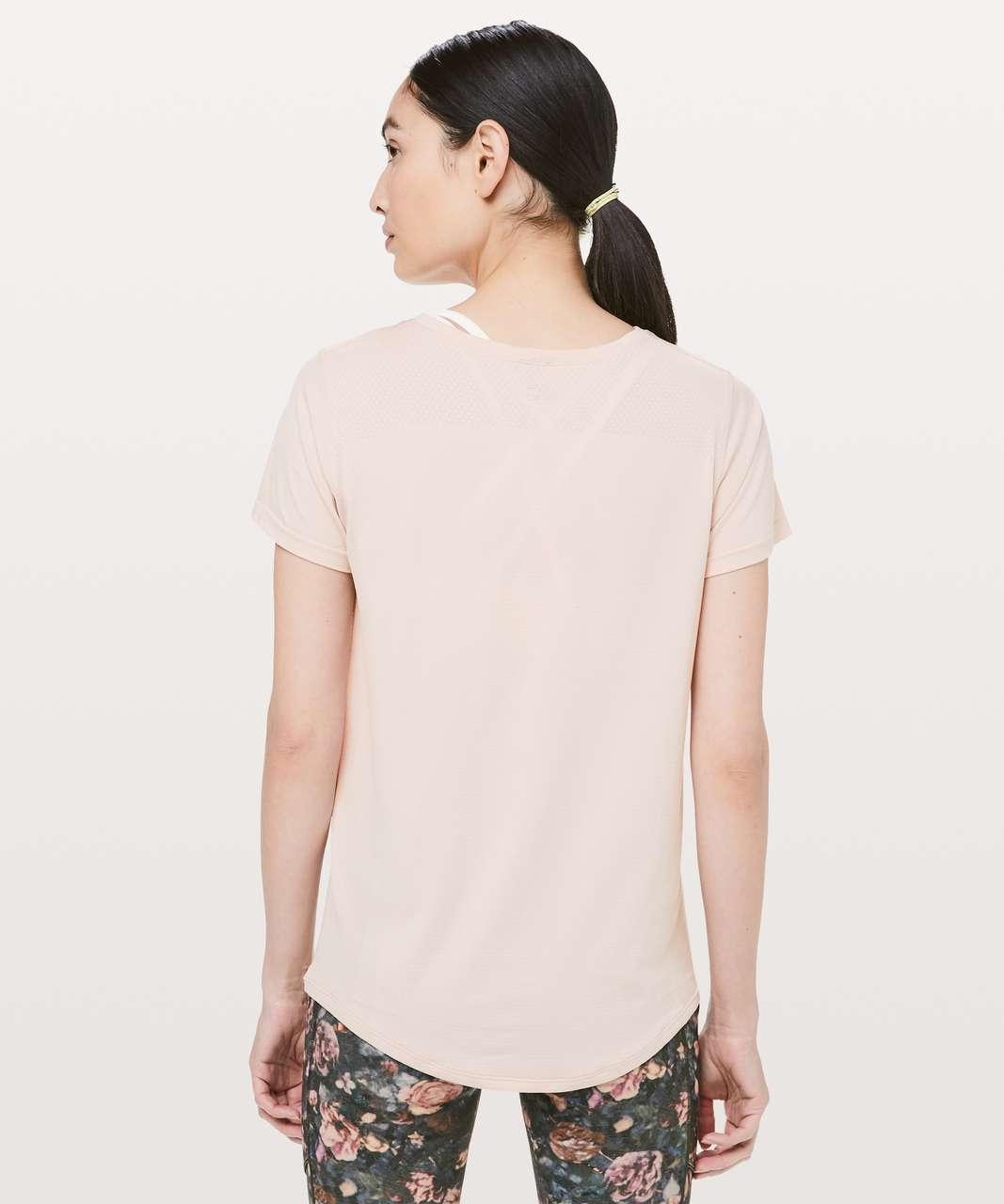 Lululemon Wait For Nothing Short Sleeve - Pink Bliss / White