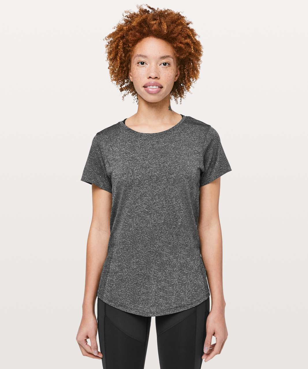 Lululemon Wait For Nothing Short Sleeve - Black / White
