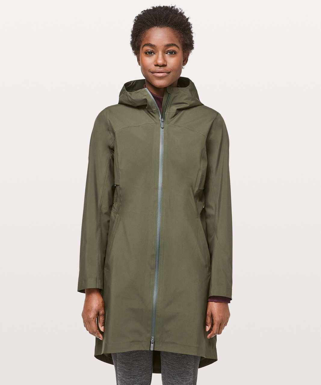 Lululemon Rain Rebel Jacket - Dark Olive