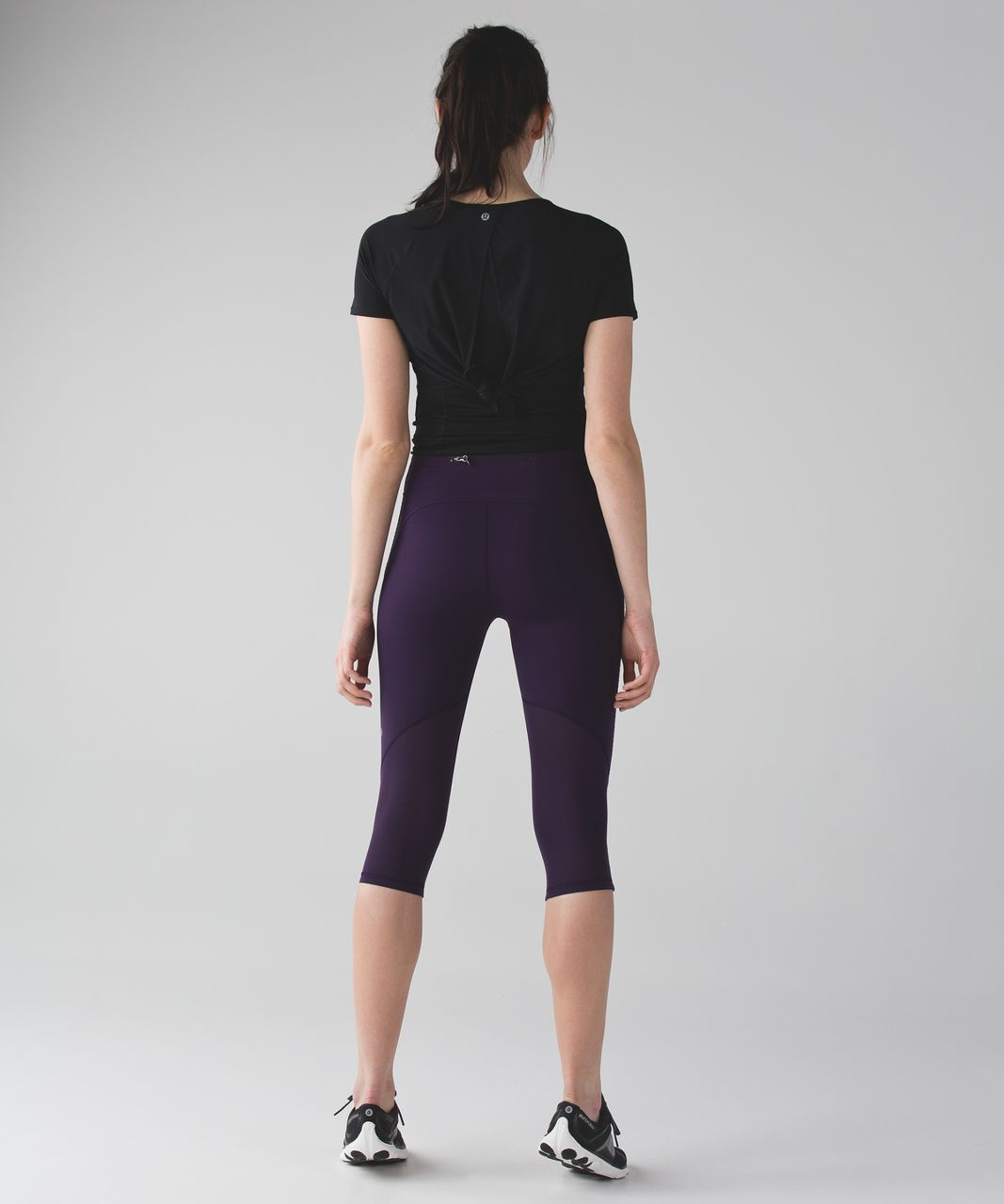 Lululemon Real Quick Crop - Deep Zinfandel