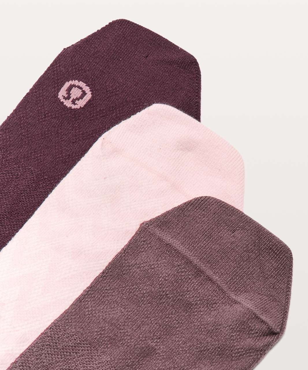 Lululemon On The Fly Sock *3-Pack - Blissful Pink / Antique Bark / Dark Adobe