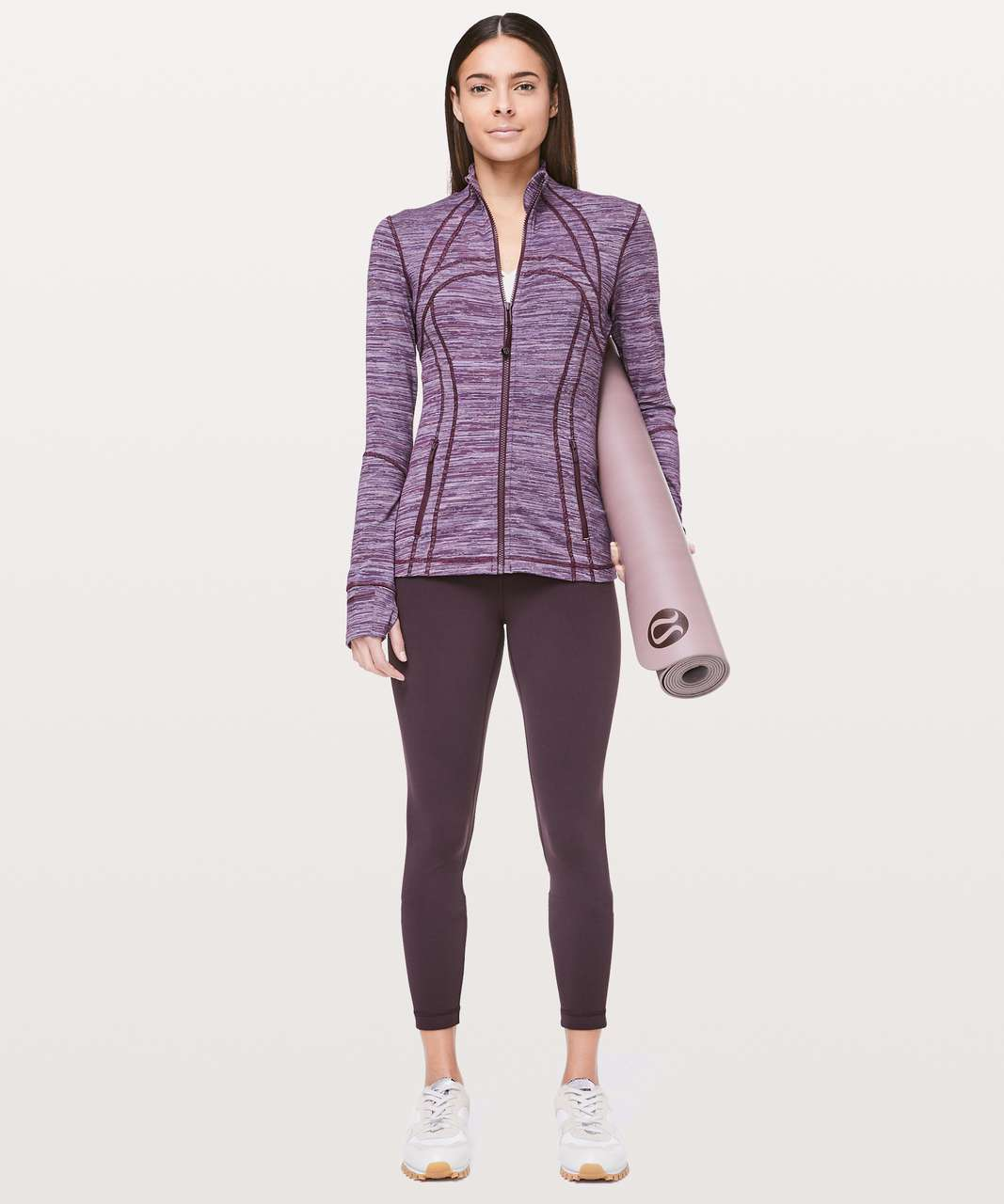 Lululemon Define Jacket - Edged Stripe Jacquard Blueprint Royal Ruby