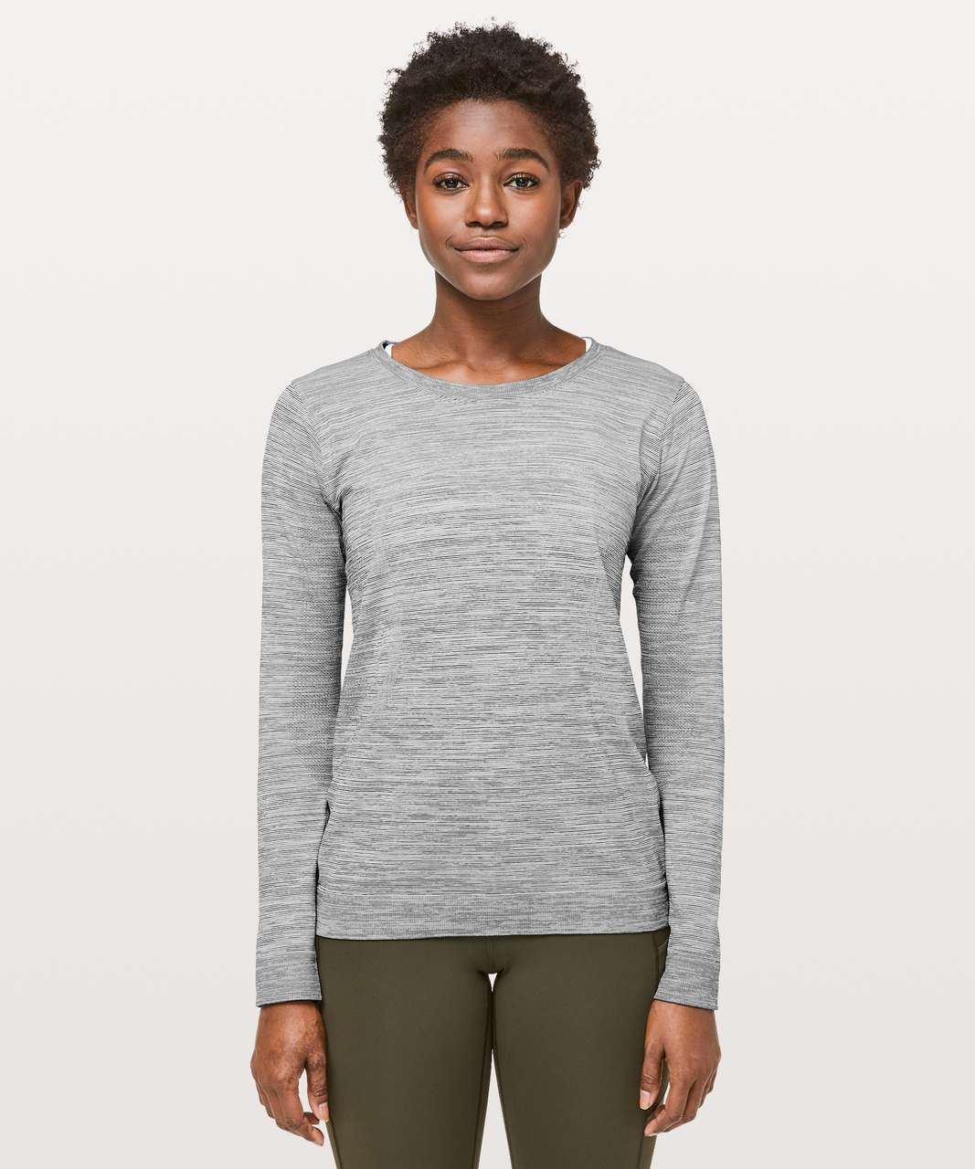 Lululemon Swiftly Tech Long Sleeve (Breeze) *Relaxed Fit - Sheer Blue / White / Black