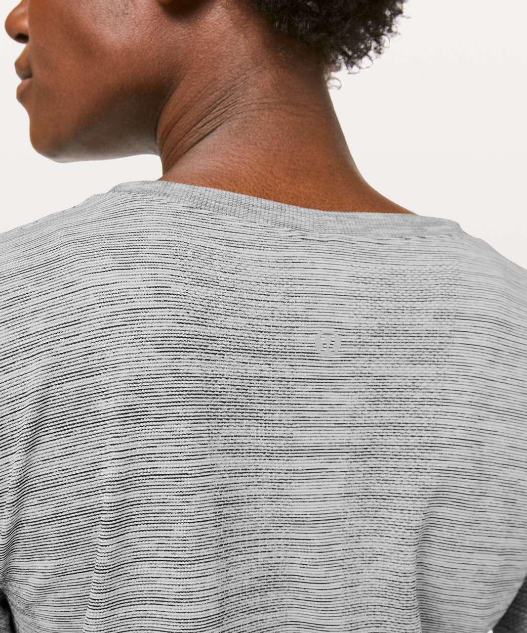 Lululemon Swiftly Tech Long Sleeve (Breeze) *Relaxed Fit - Sheer Blue / White / Black