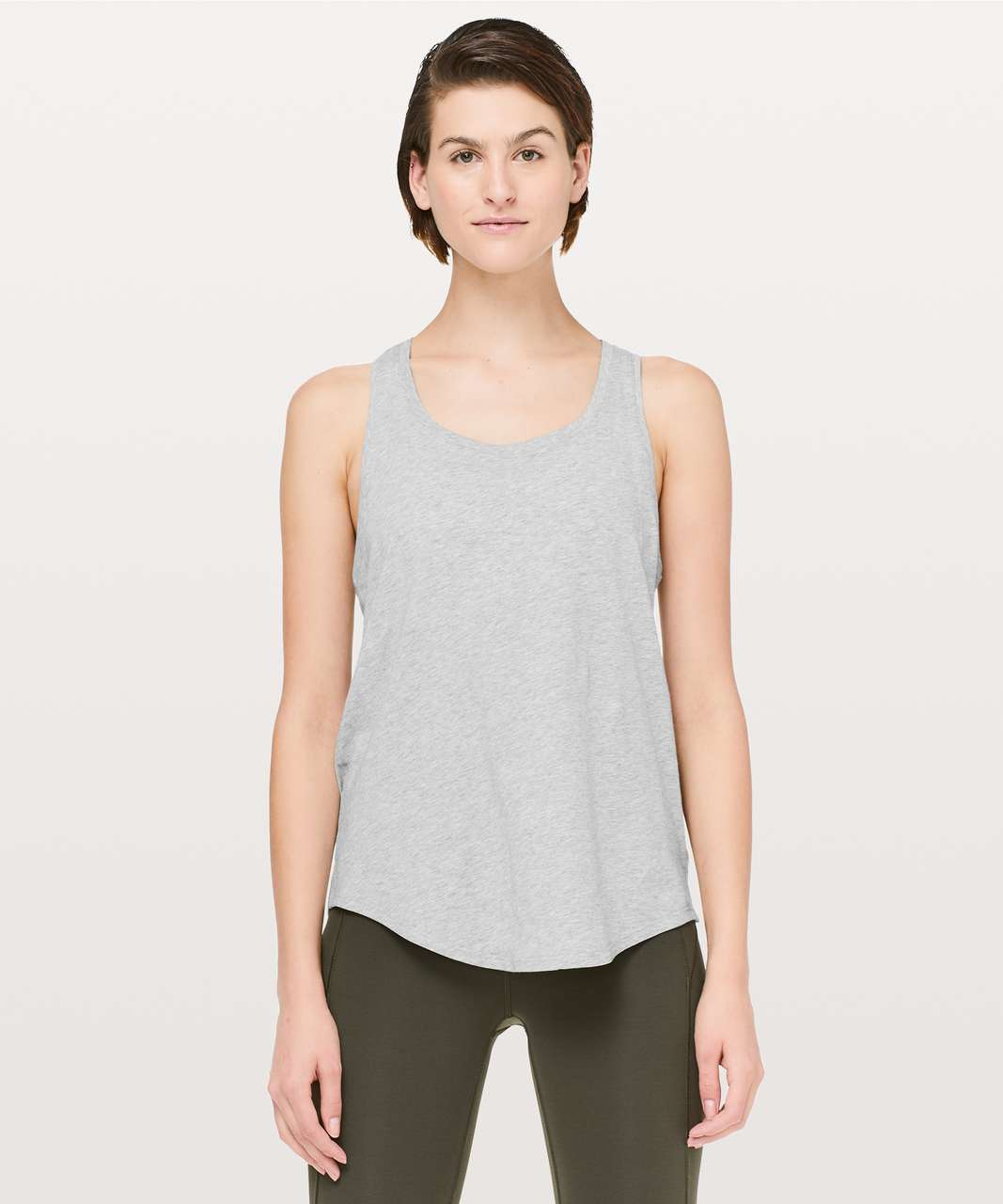 Lululemon Love Tank *Pleated - Heathered Core Light Grey (First Release)