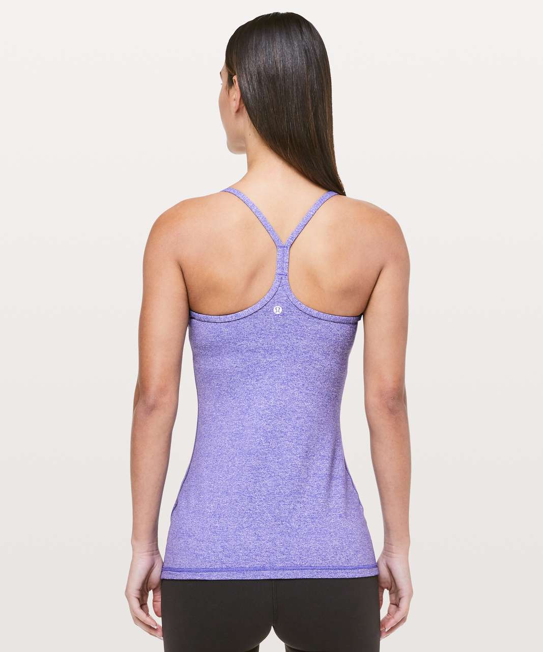 3a7e77bf62825 Lululemon Power Y Tank  Luon - Heathered Iris Flower - lulu fanatics