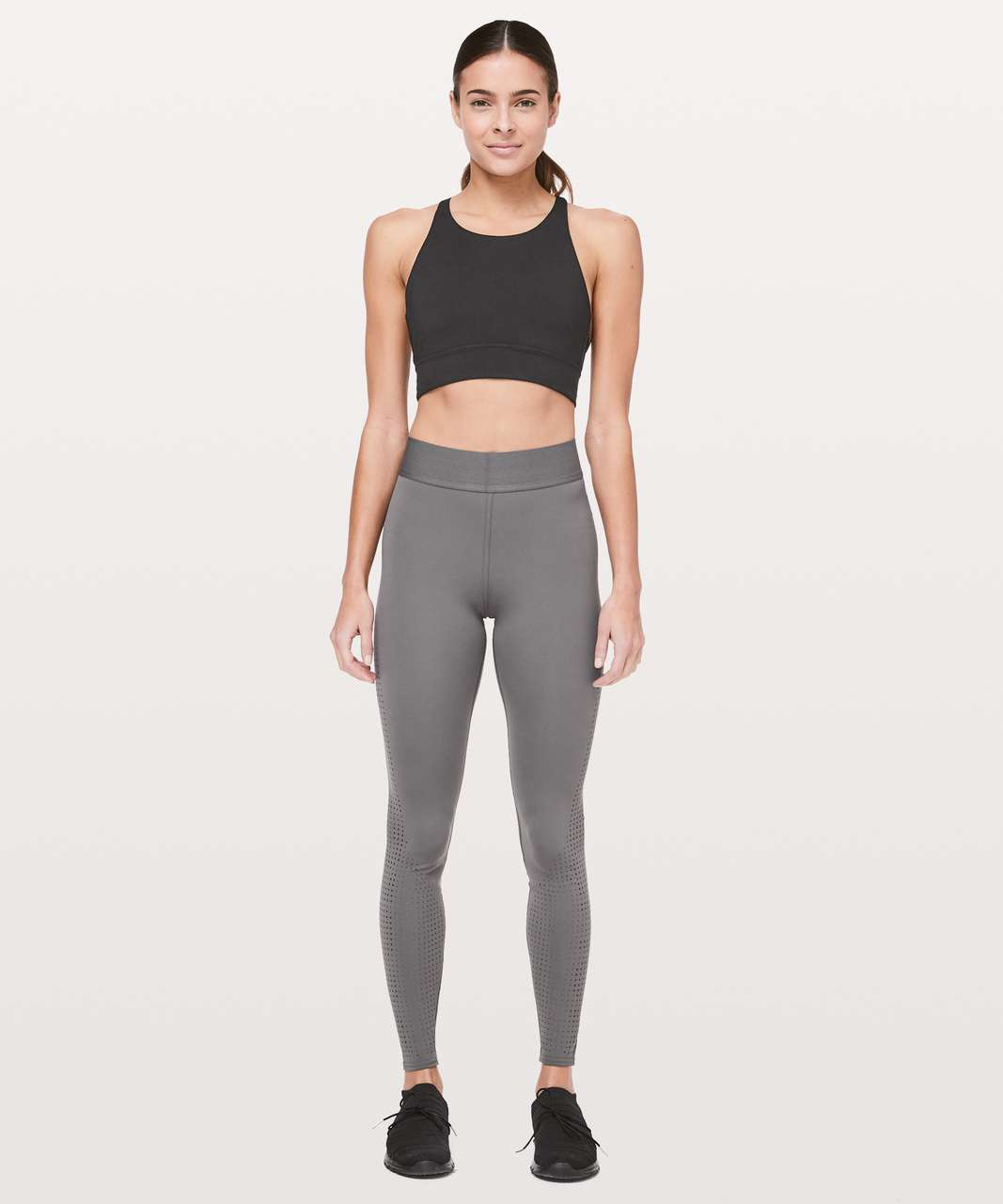 "Lululemon Ride & Reflect Tight 28"" *lululemon X SoulCycle - Metal Grey"