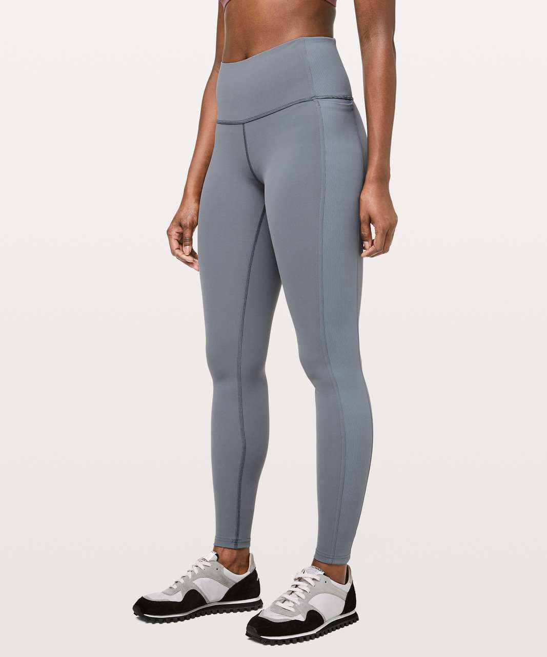 "Lululemon Wunder Under High-Rise Tight *Rib 28"" - Steam Blue"
