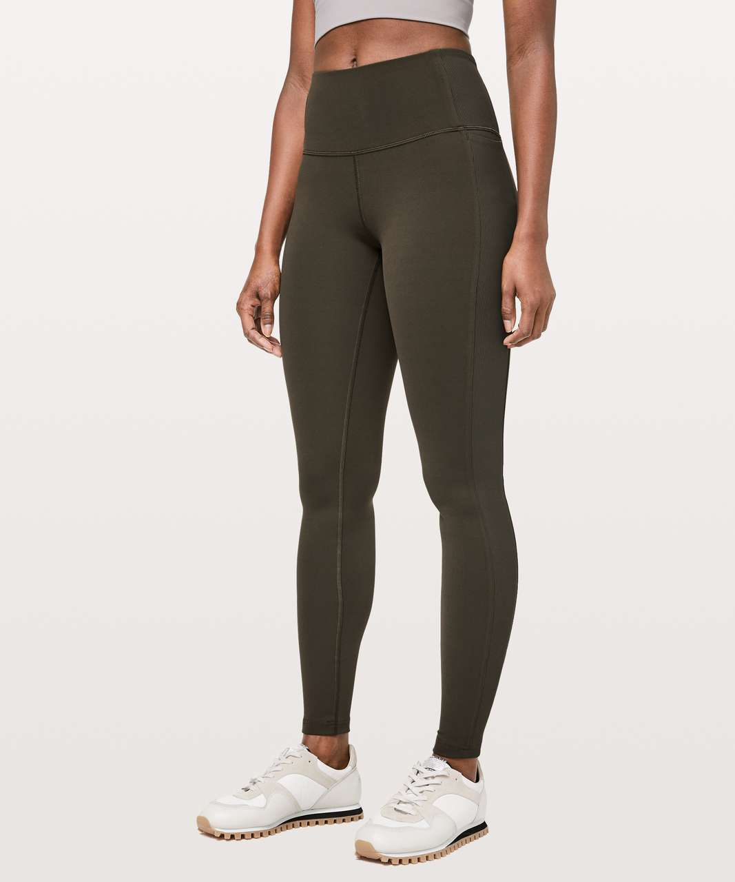 "Lululemon Wunder Under High-Rise Tight *Rib 28"" - Dark Olive"