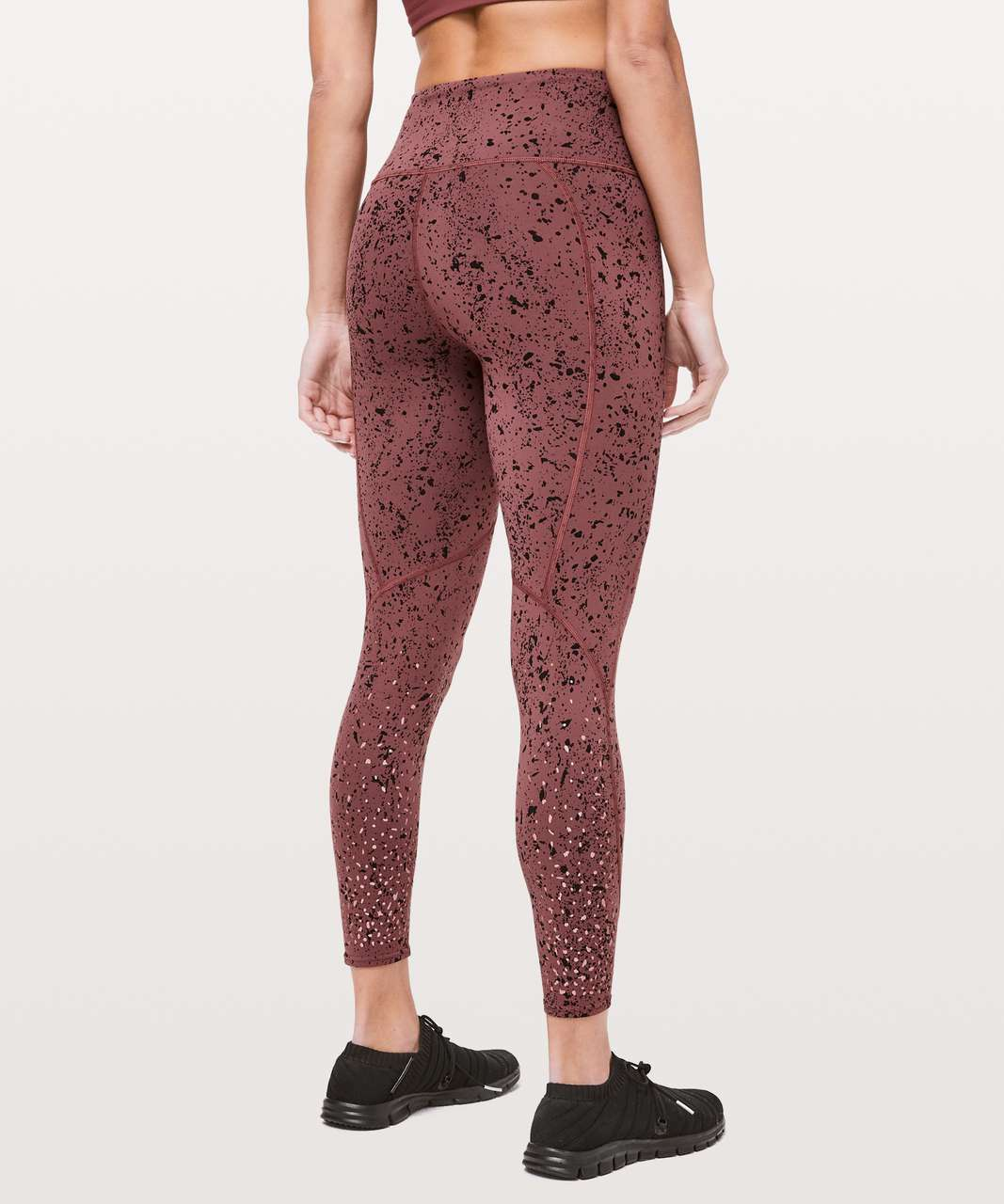 "Lululemon To The Beat Tight Reflective 24"" *lululemon X SoulCycle - Tempo Splatter Adobe Dust Black"