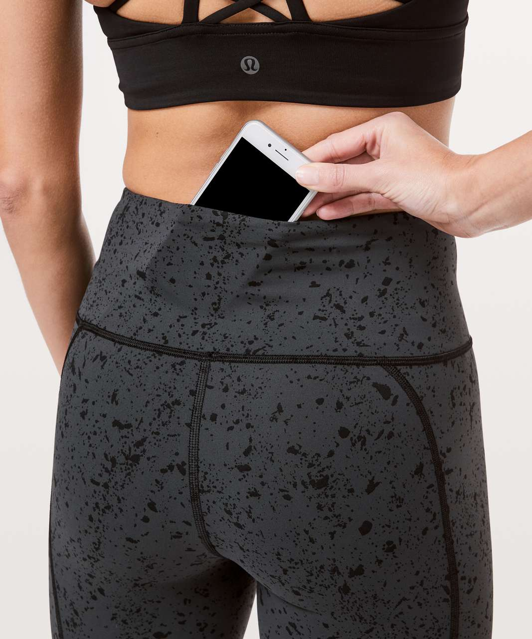 "Lululemon To The Beat Tight Reflective 24"" *lululemon X SoulCycle - Tempo Splatter Obsidian Black"