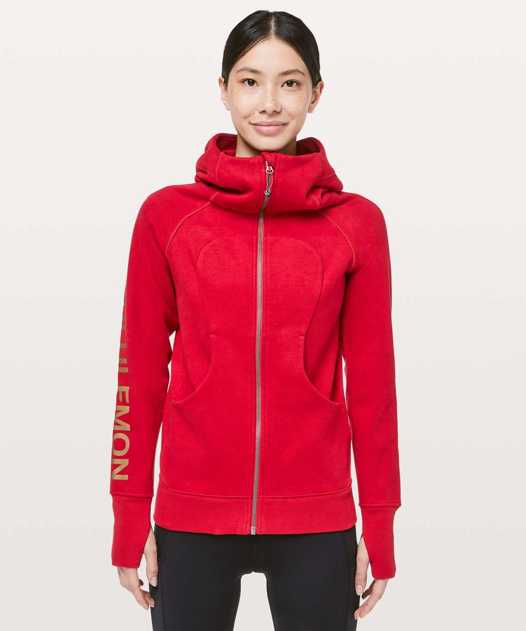 Lululemon Scuba Hoodie Classic Cotton Fleece *Lunar New Year - Dark Red