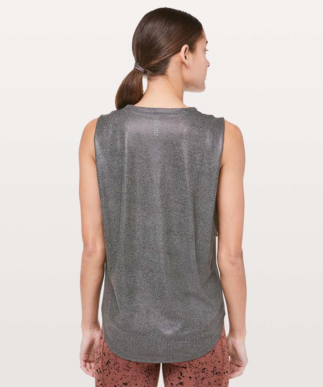 Lululemon Ride & Reflect Muscle Tank *lululemon X SoulCycle - Luminosity Foil Print Heathered Black Black