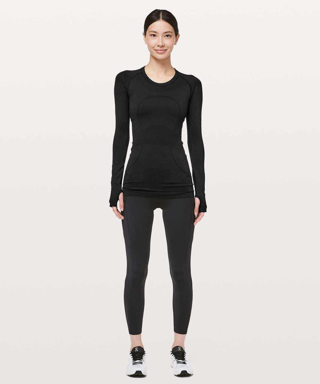 Lululemon Swiftly Tech Long Sleeve Crew *Lunar New Year - Black / Black