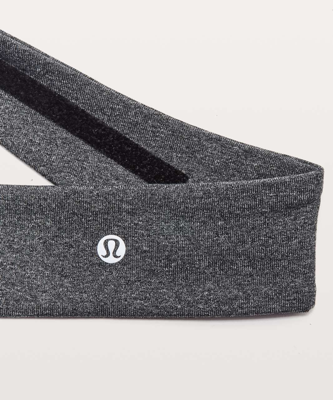 Lululemon Fly Away Tamer Headband II - Heathered Black