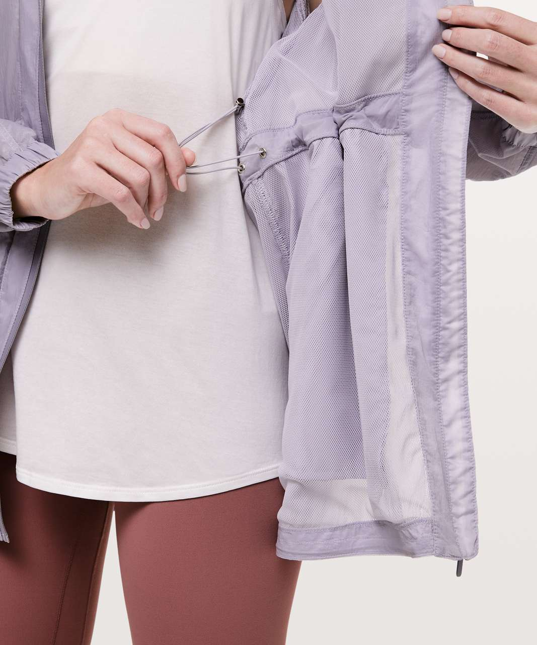 Lululemon In The Clear Jacket - Silver Lilac